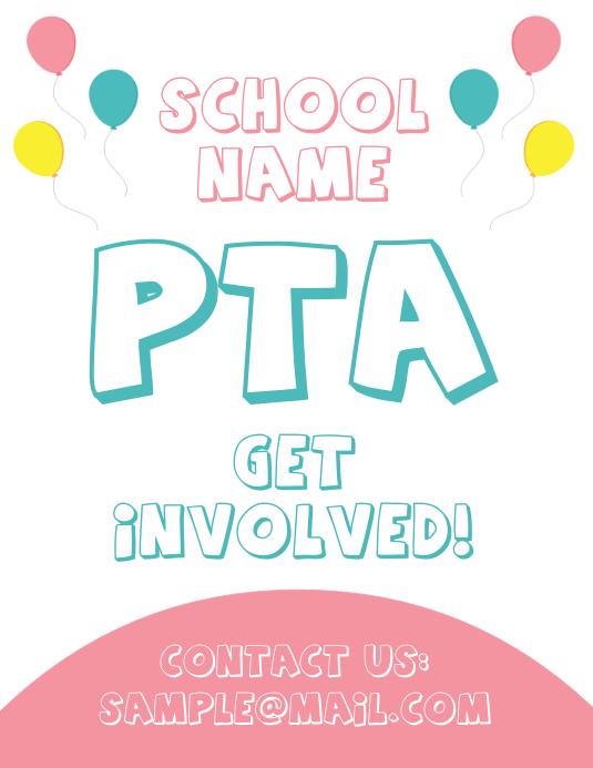 PTA Parent Teacher Association School Flyer
