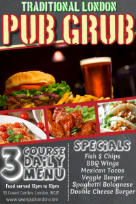 Pub Bar Food Flyer Template
