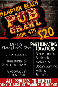 pub crawl bar flyer