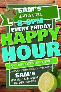 Pub Happy Hour Poster
