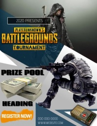 PUBG FLYER POSTER TEMPLATE