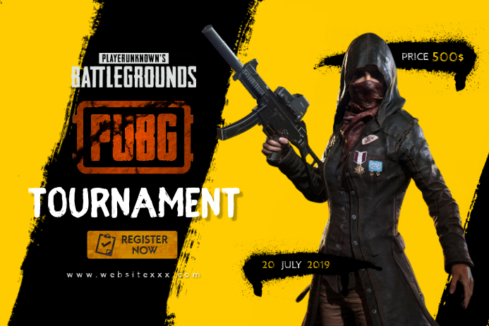 PUBG Game Tournament poster template