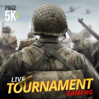 PUBG Game Tournament poster Cover ng Album template