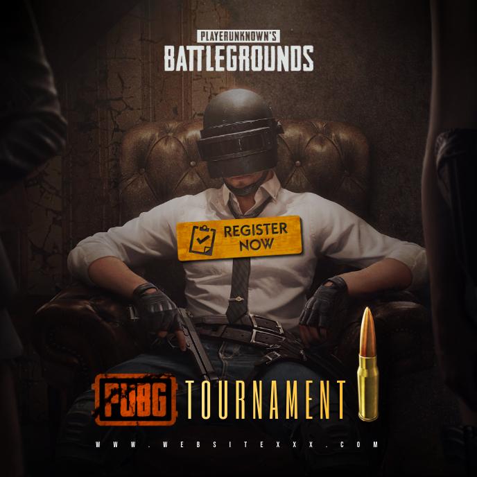 PUBG Game Tournament poster Album Cover template