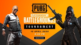PUBG Game Tournament Poster YouTube Thumbnail template