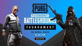 PUBG Game Tournament Poster YouTube Thumbnail template