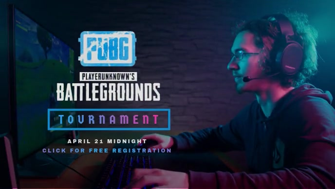 PUBG Game Tournament poster Miniatura de YouTube template