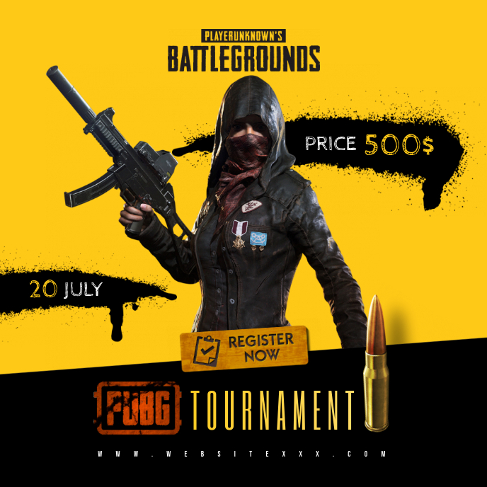 PUBG Game Tournament poster Album Cover template