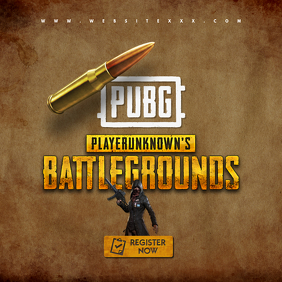 PUBG Game Tournament poster Portada de Álbum template