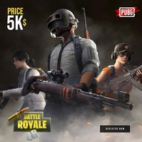 PUBG Game Tournament poster Albumhoes template