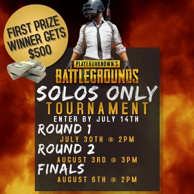 PUBG PLAYERUNKNOWN'S BATTLEGROUNDS TOURNAMENT