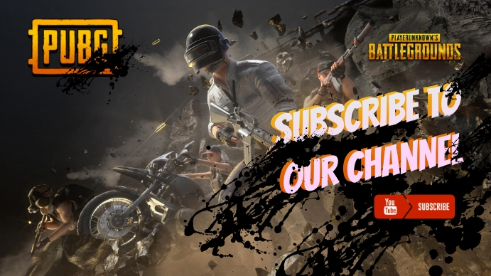 Pubg subscribe cover Foto Sampul Saluran YouTube template