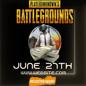 PUBG TOURNAMENT ad video digital Logo template