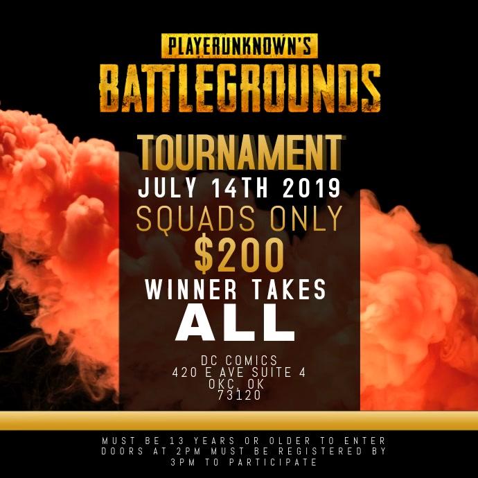 pubg tournament cash prize event video template