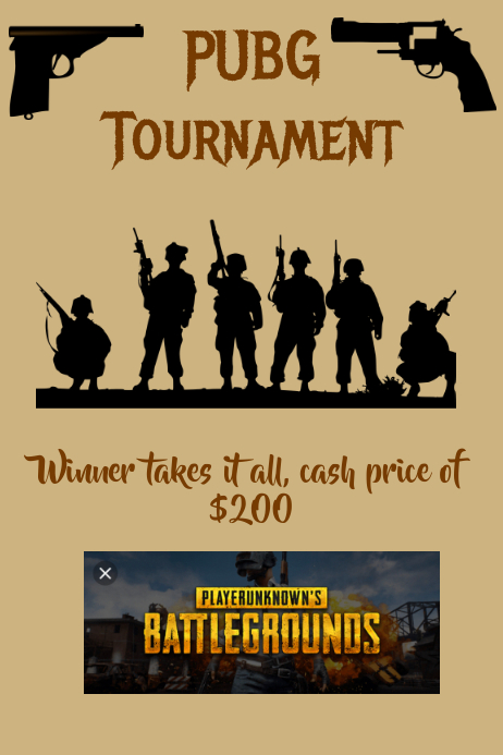 PubG Tournament Iphosta template