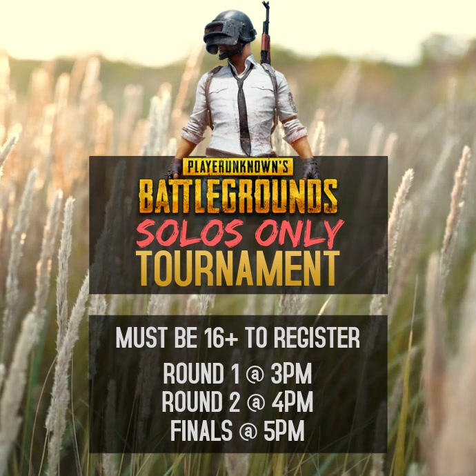 PUBG TOURNAMENT FLYER