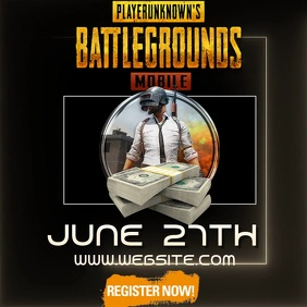 PUBG TOURNAMENT MOBILE ad video digital