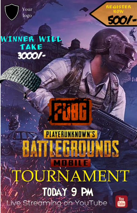 PUBG TOURNAMENT poster Tabloid template