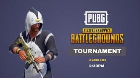 PUBG Tournament Poster Miniatura do YouTube template