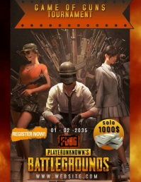 PUBG TOURNAMENT TEMPLATE Flyer (US-Letter)