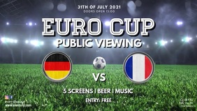 Public viewing euro cup 2020 country video ad