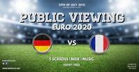 public viewing live watch soccer football ad Facebook Event Cover template