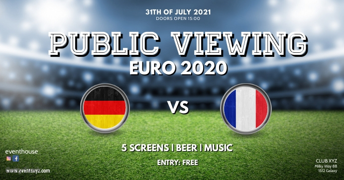 public viewing live watch soccer football ad