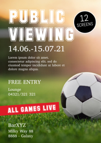 Public Viewing Soccer football EM Euro Cup Ad