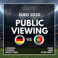 Public viewing Watch Sport Soccer Euro 2020