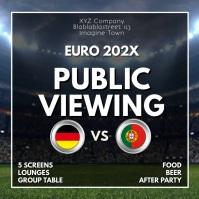 Public viewing Watch Sport Soccer Euro 2020