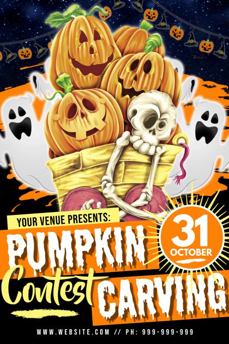 Pumpkin Carving Contest Poster Plakat template