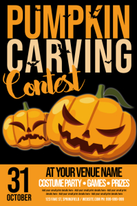 Pumpkin Carving Contest Poster template