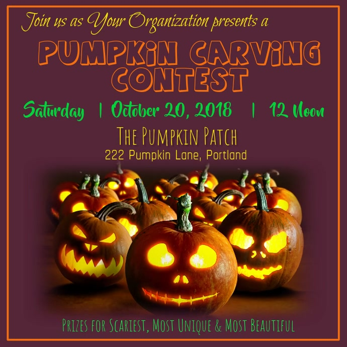Pumpkin Carving Contest Video