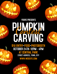 Pumpkin Carving Flyer (US Letter) template