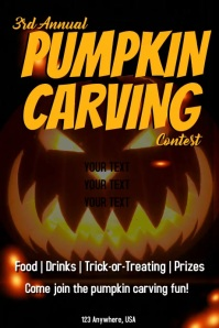 pumpkin carving Poster template