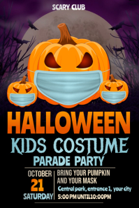 pumpkin carving flyers,Halloween party flyers Póster template