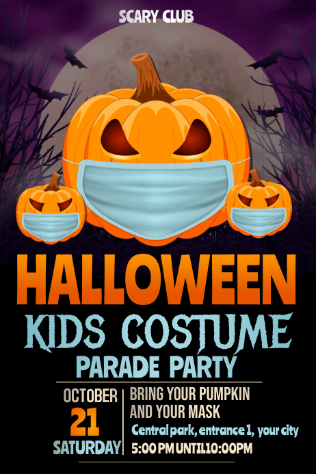pumpkin carving flyers,Halloween party flyers 海报 template