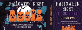 Pumpkin Carving Halloween Party Ticket Facebook Cover Photo template