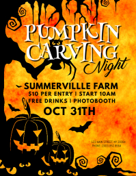 Pumpkin Carving Night Flyer