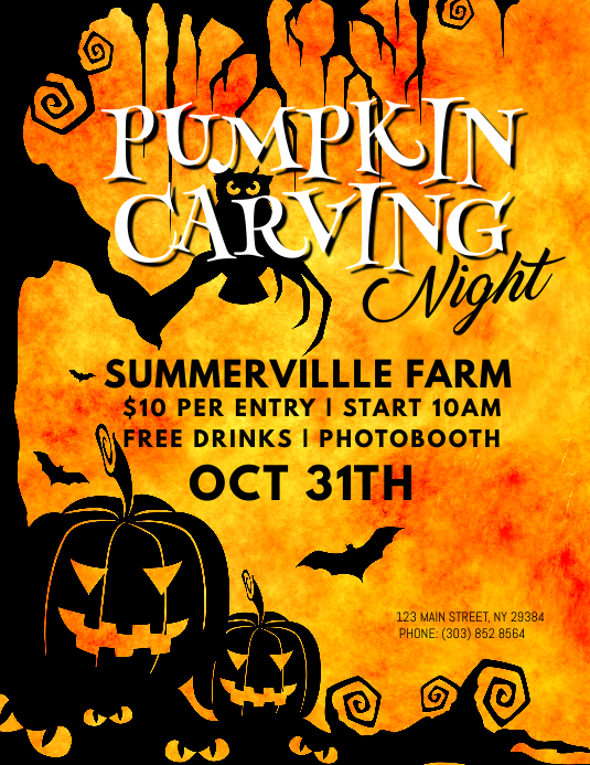 Pumpkin Carving Night Flyer