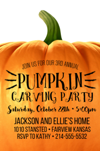 Pumpkin Carving Party Poster Template 海报