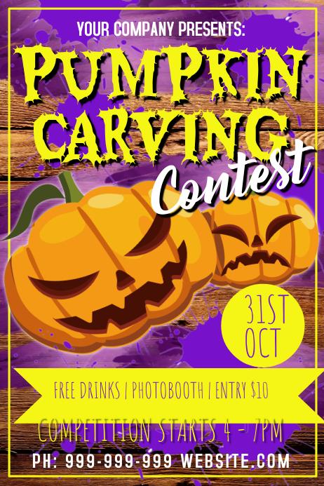 Pumpkin Carving Poster 海报 template