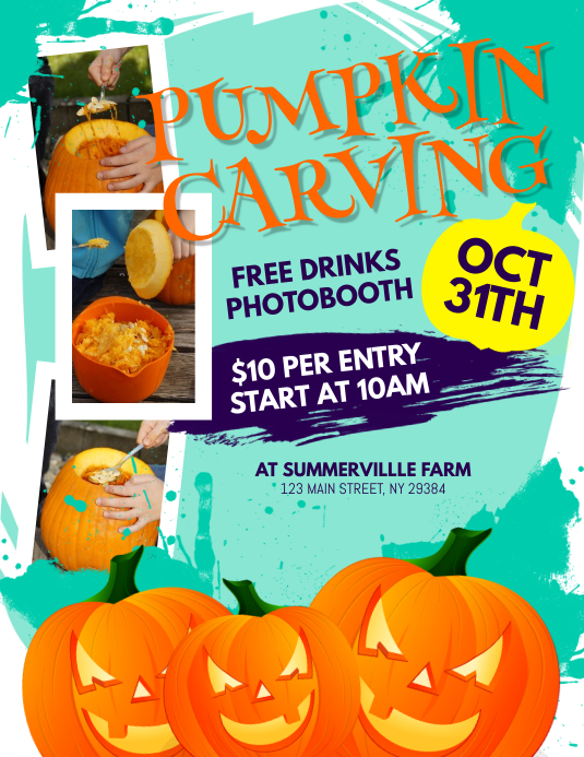 Pumpkin Carving Flyer