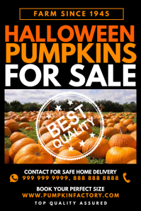 Pumpkin For Sale Poster Template