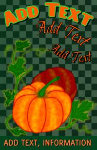 Pumpkin fruit - vegtable presentation