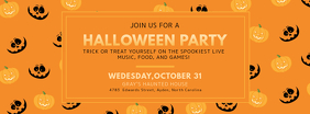 Pumpkin Halloween Birthday Party Invitation Facebook Cover