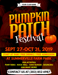 Pumpkin Patch Festival Flyer