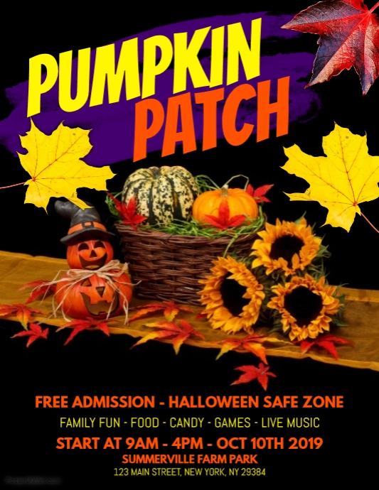 Pumpkin Patch Flyer Template