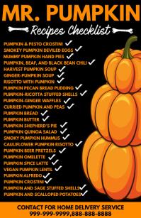 Pumpkin Recipe Checklist Template Poniekoerant