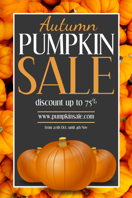 pumpkin sale Affiche template